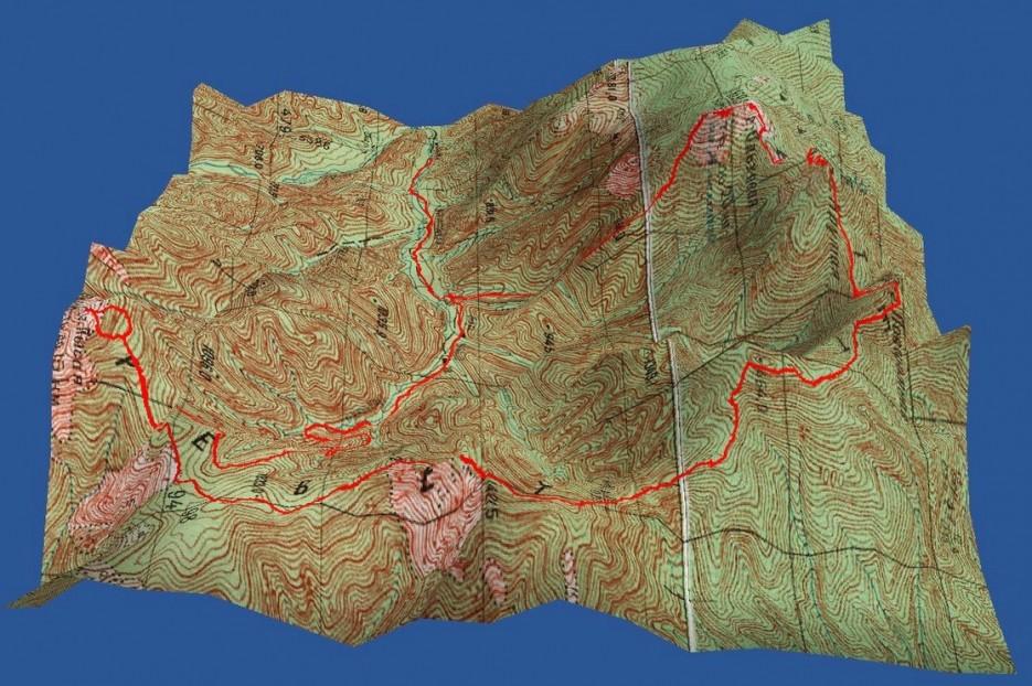 Карта Траверса   Траверс г.Ольховая-г.Лысая