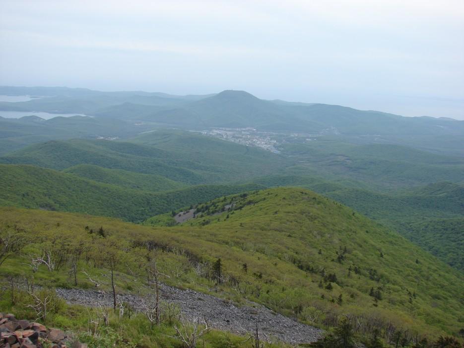 06.Вид на г.Фокино и г.Бол.Иосиф 530 м. | 26.05.2012 года. Поездка на г.Криничная (826 м).