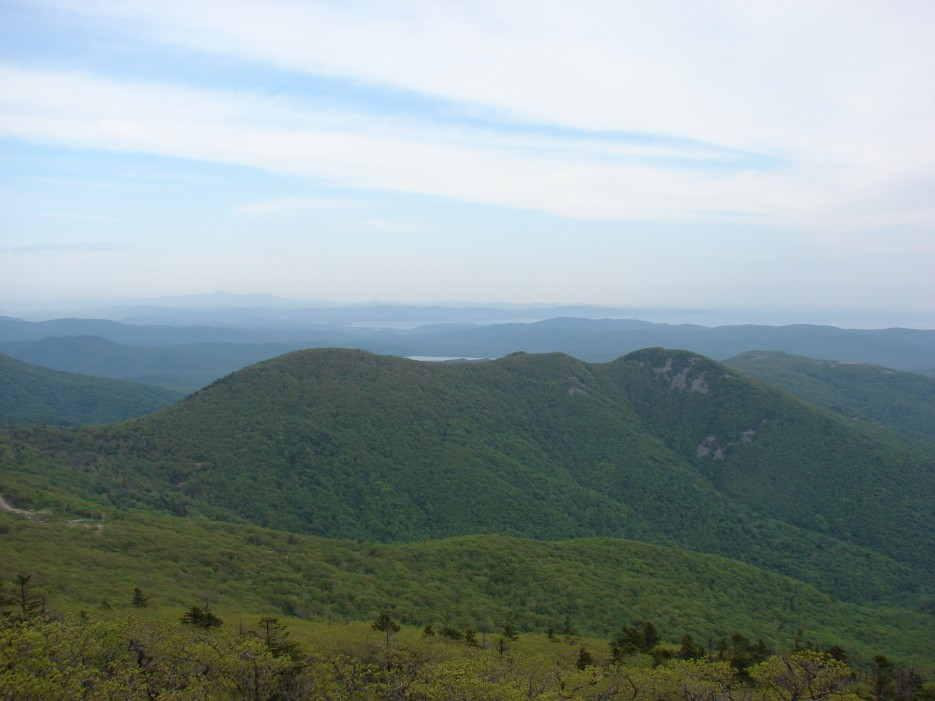 15.Вид на залив Восток и водохранилище г.Фокино.   26.05.2012 года. Поездка на г.Криничная (826 м).