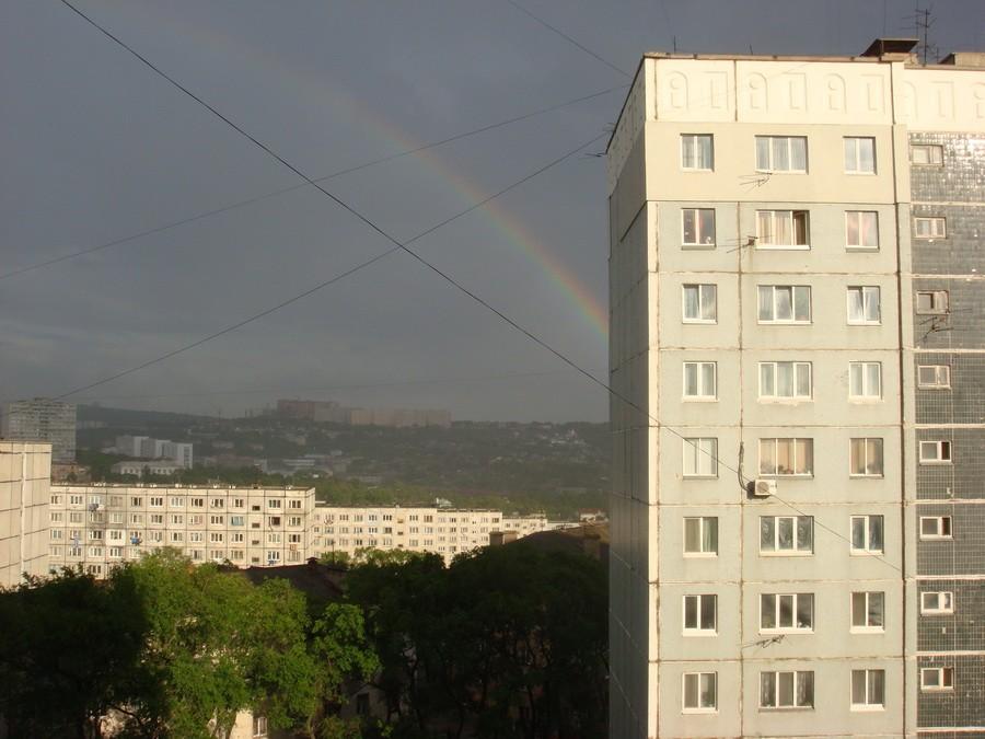 После кратковременных дождей - всегда из окна видна радуга!!!!!! | Владивосток (подборка)
