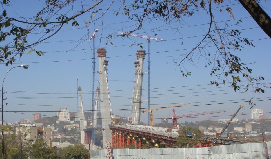 Строительство моста через бухту Золотой Рог (когда то будут историческими моментами)   Владивосток (подборка)