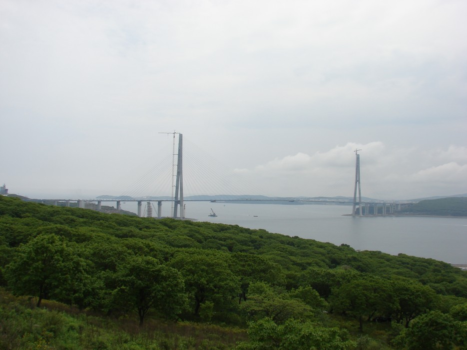 03.Мост на остров Русский в июне 2012 года. | Мост на остров Русский.