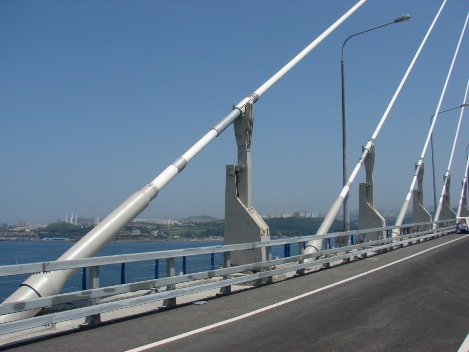 13.Ванты моста на остров Русский. | Мост на остров Русский.
