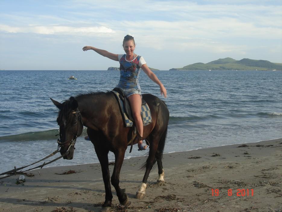 Прогулка на лошади | о. Попов