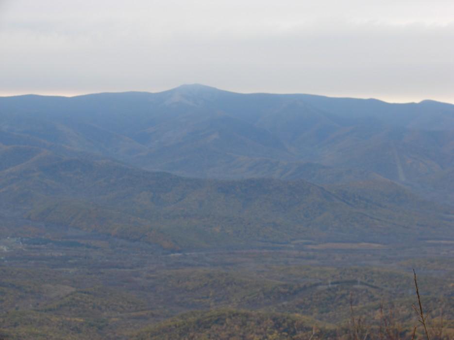 07.Вид на г.Пидан. | 13.10.2012 года. Поездка на г.Туманная (1230 м), хребет Большой Воробей.