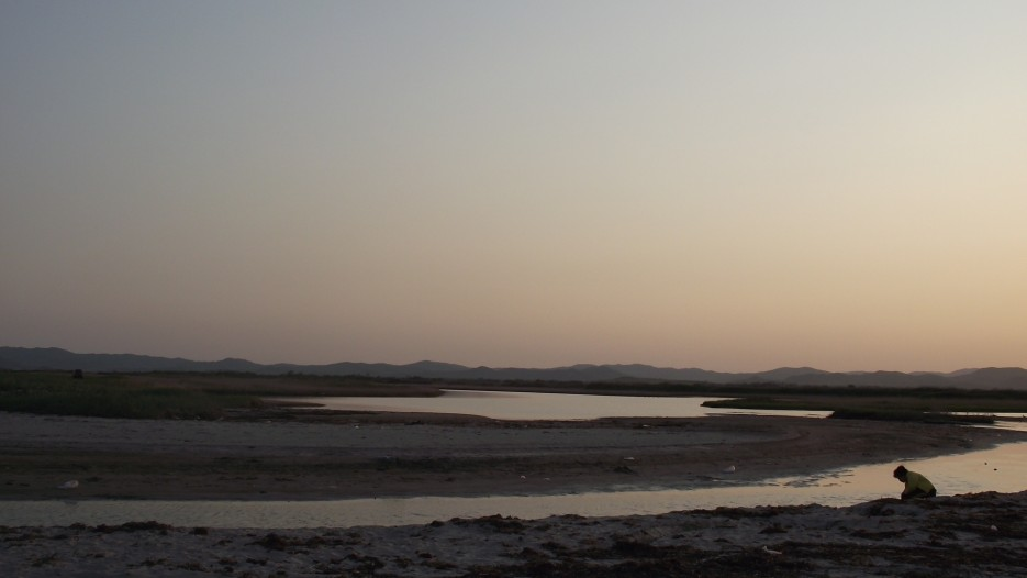 лагуна реки Адими на закате | пляж Маньчжурка, Славянка
