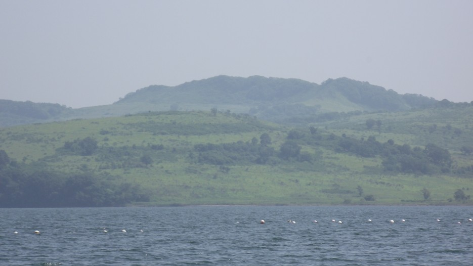Так выглядят гребешковые плантации. На заднем плане - полуостров Краббе | Фототур по Хасанскому району 9 августа