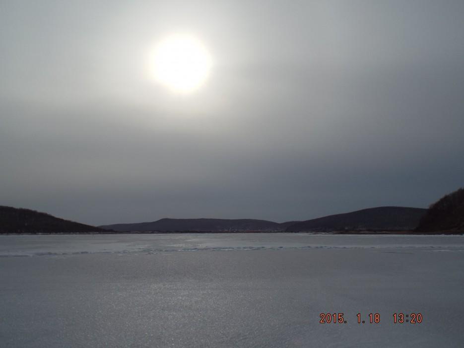 13.Солнце в б.Боярин. | Острова Русский и Попова. Зимой 2015 год.