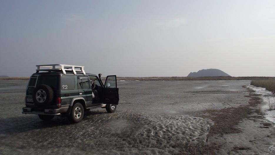 Перед стартом   Ледовый поход Посьет - бухта Экспедиции - озеро Тальми - мыс Островок Фальшивый