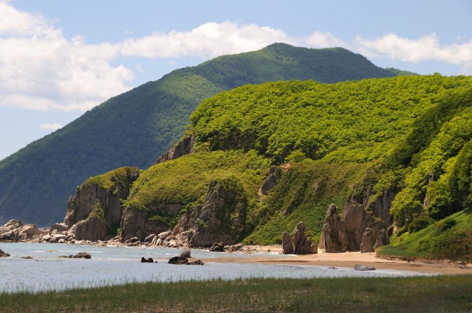 Фото 46139   Бухта Кит, остров Опасный - северная граница Лазовского заповедника