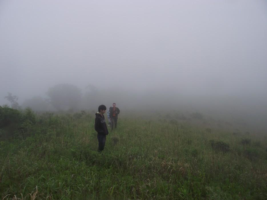 Фото 46214 | Скала Крепость на въезде в Славянку и полуостров Краббе - штурм в тумане