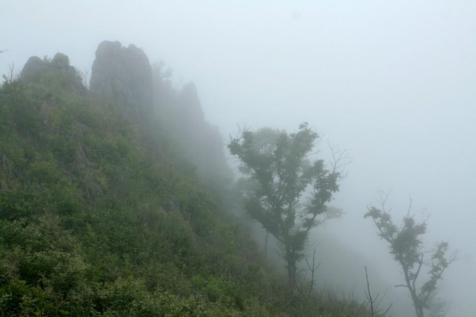 Фото 46272 | Скала Крепость на въезде в Славянку и полуостров Краббе - штурм в тумане