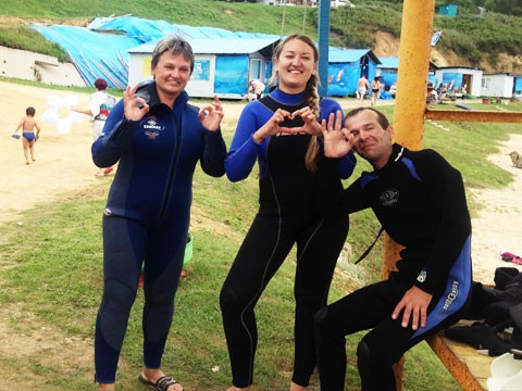 Фото 46845 | Отдых в Ливадии 2015. Пробные погружения с аквалангом