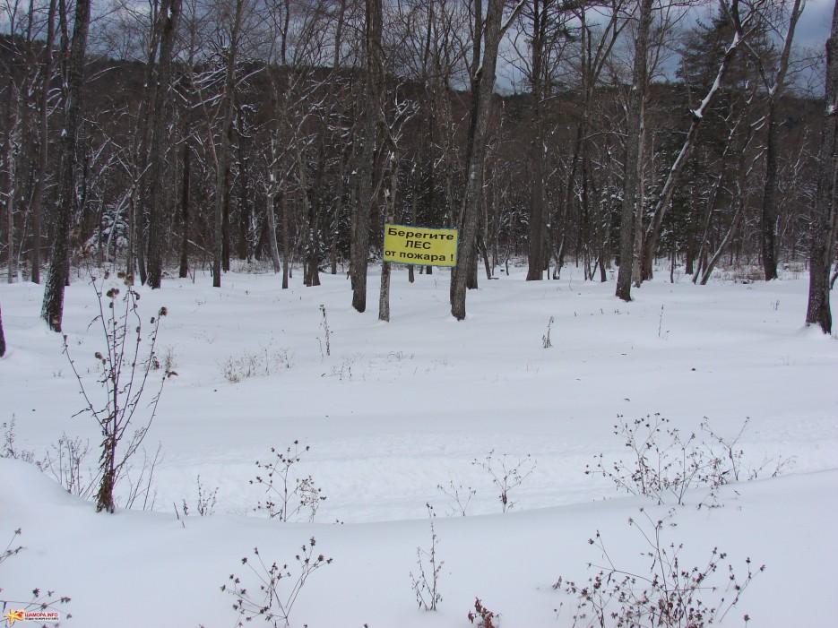 05.Пожары в лесу закончились.   ЦАО «Пидан Сихотэ» 24.11.2011 года. Снег выпал.