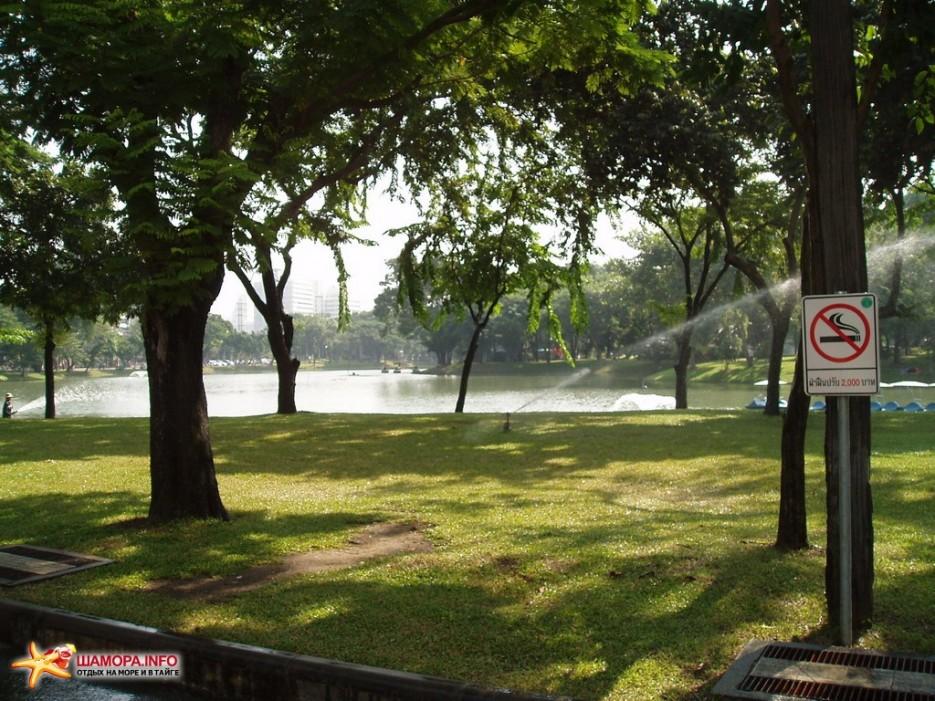 за курение в парке приличный штраф | Тайланд. Бангкок.