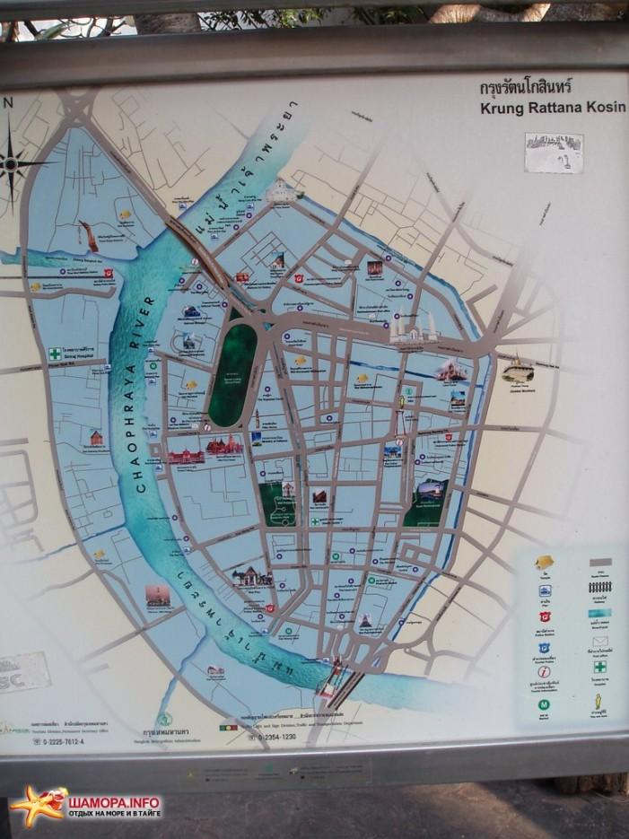 карта Бангкока | Тайланд. Бангкок.