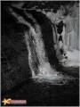 бог-природа нас миловала и наградила видом ночного водопада. к слову, 2км по ручью шли 2 часа.
