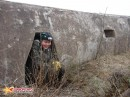 Убежище на 1 солдата. Ниша-убежище на случай артобстрела в бетонном бруствере на форте №10, остров Русский.