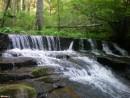 Порог на ключе Втором (долина р. Водопадной), выше водопада.