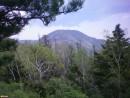 г. Макарова (1366 м) Вид с Макаровского хребта. Вершина г. Макарова заросла лесом, обзора нет совершенно. Виды на южные отроги Партизанского хребта открываются местами с курумничков на подъеме.