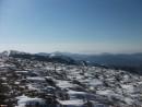 Вид с вершины г. Лысой на южную часть Партизанского хребта и Ливадийский хребет