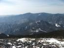Партизанский хребет между горой Белой и горой Синей