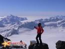 Ирина на почти вершине Европы, внизу наверно самый высокогорный толчок-скворечник :)
