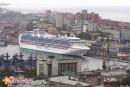 Принцесса мор. вокзале Сапфировая принцесса в порту Владивосток