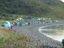 Палаточный лагерь на острове Рикорда