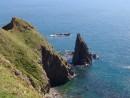 Непреступные острые скалы. Остров Рикорда.