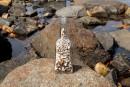 Вот такой сувенир можно сделать своими руками используя найденную на берегу бутылку и ракушки