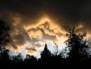 Хмурое небо таёжной осени. Тернейский район.