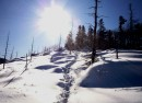 Солнце озаряет путь. К вершине Пидана.