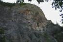 Вот такие причудливые скалы есть на нашей малой Родине. Если приглядеться то можно найти много очертаний лиц. эти скалы следят за всеми кто спускается в ущелье к реке.