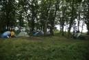 Лагерь. Бухта Триозерье.  Вид с верхней площадки в лесу. Побережье Партизанского и Лазовского районов Приморского края