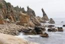 Мыс Лапласа. Камни и лагуны бухты Триозерье. Поселок Врангель. Лазовский район.
