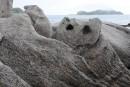 Камни и лагуна бухты Триозерье. Лазовский район.