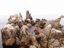трон царя нептуна. Камни и лагуны бухты Триозерье. Лазовский район.