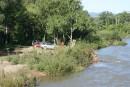 Стоянка у моста через реку Тигровая (Сица). Район села Бровничи. Партизанский район.