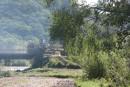 Трактор ездил чинить грунтовку. Река Тигровая (Сица). Район села Бровничи. Партизанский район.