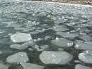 Бухточки правее Шаморы. Красивая ледяная шуга
