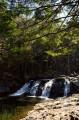 """Второй водопад """"Трёхглавый"""". После половодья у него появляется ещё один поток, либо они все соединяются в один."""