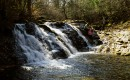 """Второй водопад """"Трёхглавый"""". Точнее - это скат, а не водопад."""