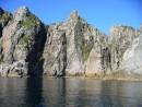 Фантастический пейзаж. Скалы отраженные в воде