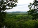 Вид на долину вдоль реки Уссури с холма