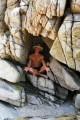 В пещерке.