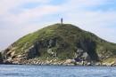 Мореходный знак на острове Таранцева. . Морская прогулка вокруг полуострова Гамова (до морского заповедника). Хасанский район.