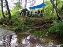 Лагерь у подножья горы Облачная. Чугуевский район.
