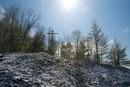 Снег на перевале. Православный крест.