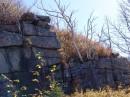 Березы на камнях. Гора Пидан. Шкотовский район.